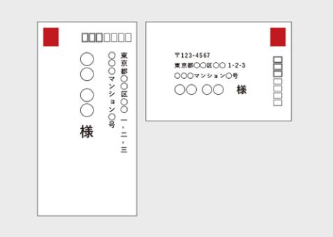切手貼る位置